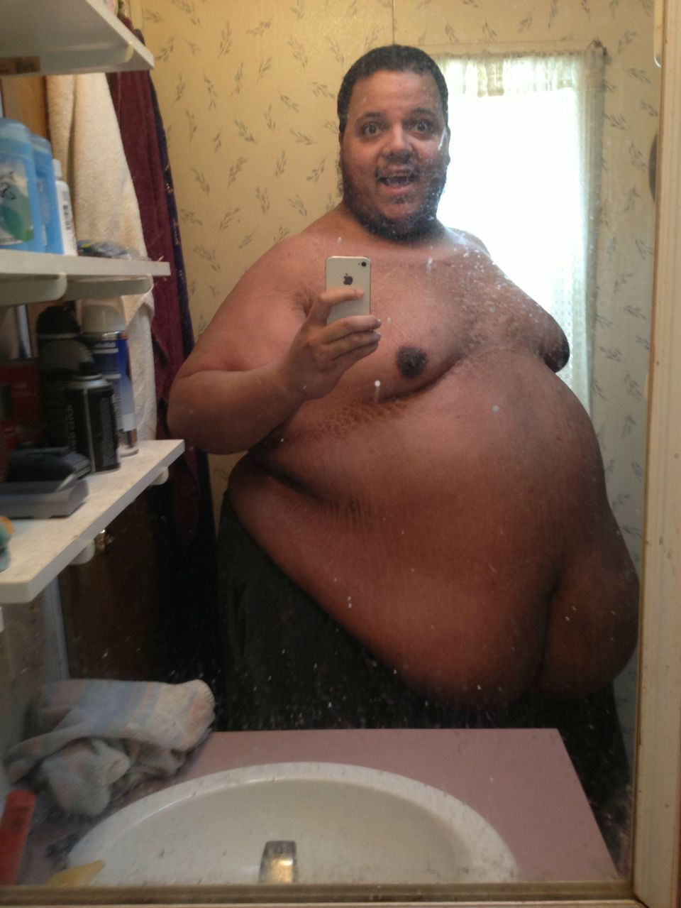 Naked fat black guy